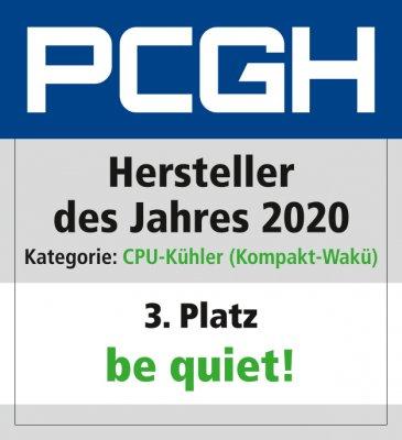 Hersteller des Jahres 2020_CPU_Kühler_(Kompakt_Wakü)_Be quiet_Platz_3